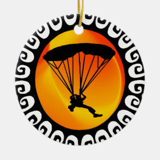 SKYDIVING THIS TIME CERAMIC ORNAMENT