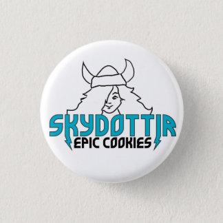 Skydottir Epic Cookies GIRL LOGO 1 Inch Round Button
