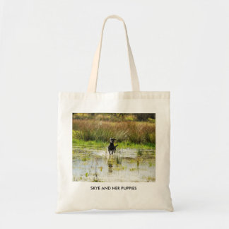 SKYE AND HER PUPPIES TOTE BAG