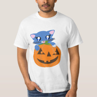 Skye Pumpkin Toon Kitty Basic Shirt