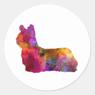 Skye Terrier 01 in watercolor Classic Round Sticker