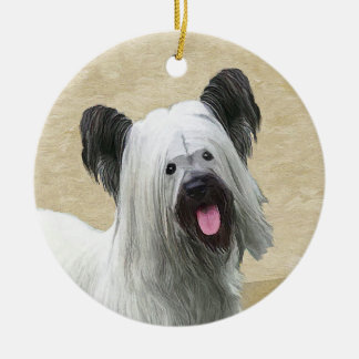 Skye Terrier Ceramic Ornament