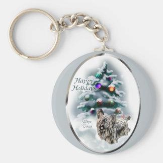 Skye Terrier Christmas Gifts Keychain