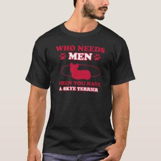 Skye terrier dog breed designs T-Shirt