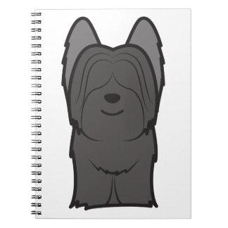 Skye Terrier Dog Cartoon Notebook