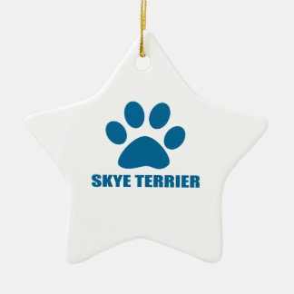 SKYE TERRIER DOG DESIGNS CERAMIC ORNAMENT