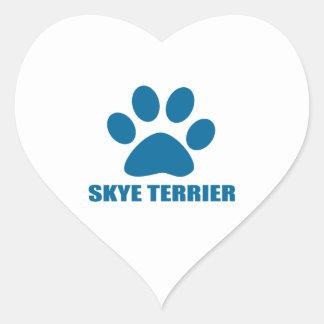 SKYE TERRIER DOG DESIGNS HEART STICKER