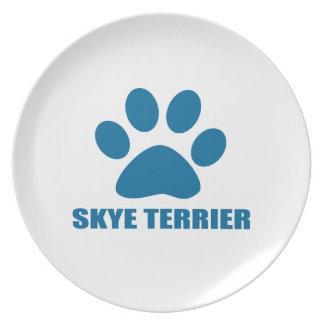 SKYE TERRIER DOG DESIGNS PLATE