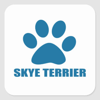 SKYE TERRIER DOG DESIGNS SQUARE STICKER