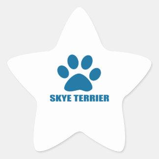 SKYE TERRIER DOG DESIGNS STAR STICKER