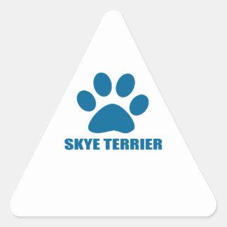 SKYE TERRIER DOG DESIGNS TRIANGLE STICKER