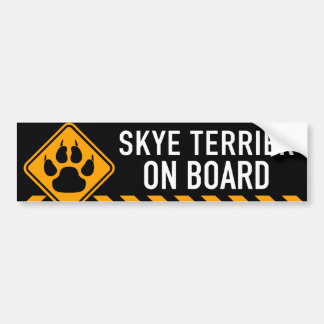 Skye Terrier On Board Bumper Sticker