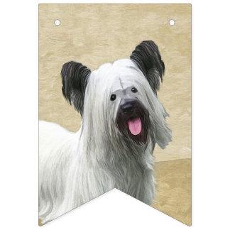 Skye Terrier Painting - Cute Original Dog Art Bunting Flags