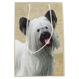 Skye Terrier Painting - Cute Original Dog Art Medium Gift Bag