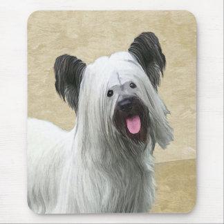Skye Terrier Painting - Cute Original Dog Art Mouse Pad