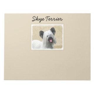 Skye Terrier Painting - Cute Original Dog Art Notepad