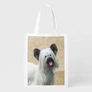 Skye Terrier Reusable Grocery Bag