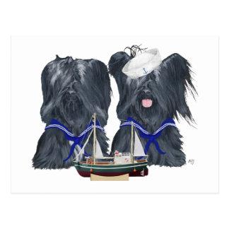 Skye Terrier Sailors Post Card