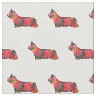 Skye Terrier Silhouette Tiled - Multi Fabric