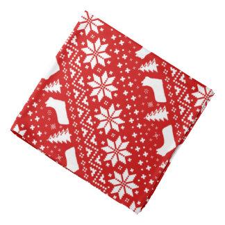 Skye Terrier Silhouettes Christmas Pattern Red Bandana