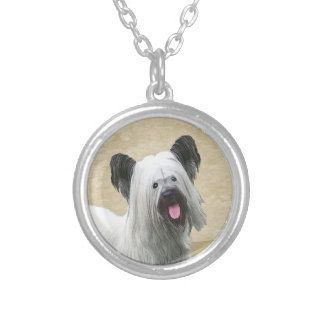 Skye Terrier Silver Plated Necklace