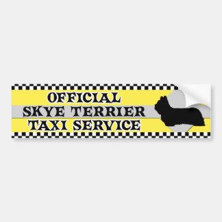 Skye Terrier Taxi Service Bumper Sticker