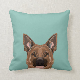 Skylar - German Shepherd gifts for dog people dog Throw Pillow