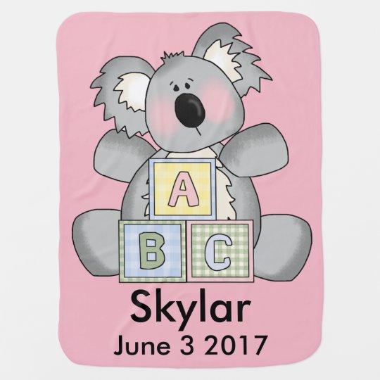 Skylar's Personalized Koala Baby Blankets