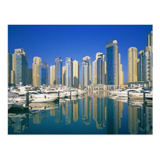 Skyline and boats on Dubai Marina Postcard