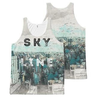 Skyline Art All-Over-Print Tank Top