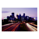 Skyline at dusk, Minneapolis, Minnesota Poster