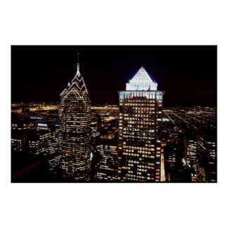 Skyline at dusk, Philadelphia, Pennsylvania Poster