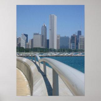 Skyline, Chicago, IL Poster
