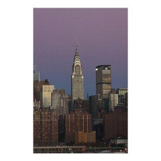 Skyline City Manhattan New York Stationery