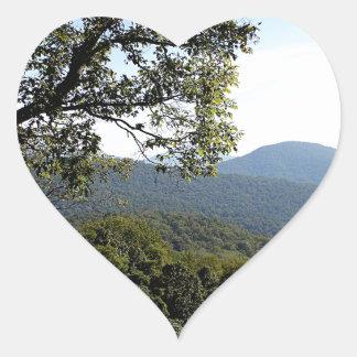 Skyline Drive Mountain View Heart Sticker