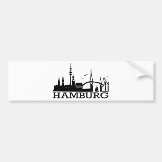 Skyline Hamburg Bumper Sticker