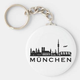 Skyline Munich Keychain