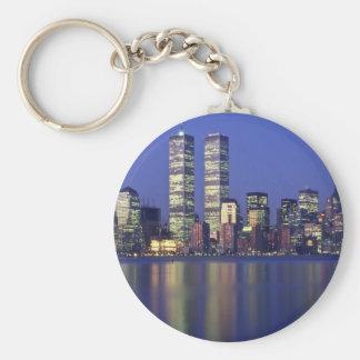 Skyline New York with World Trade Center Keychain