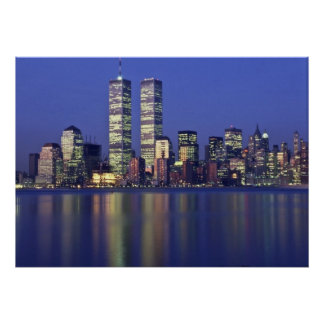Skyline NYC with World Trade Center Poster