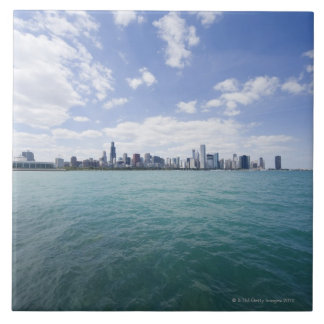 Skyline of Chicago from Lake Michigan, Illinois, Ceramic Tiles