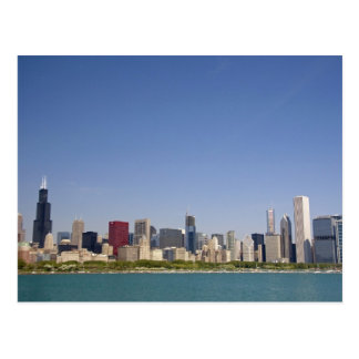 Skyline of Chicago, Illinois, USA. Postcard
