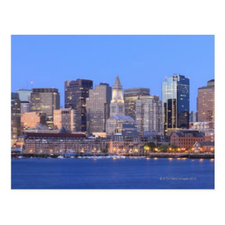 Skyline of downtown Boston from inner Boston Postcard