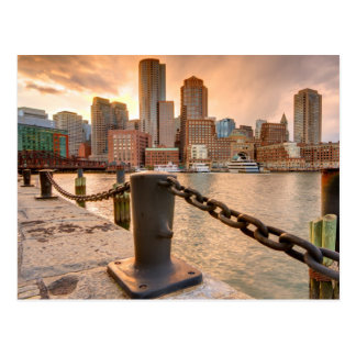 Skyline of Financial District of Boston Postcard