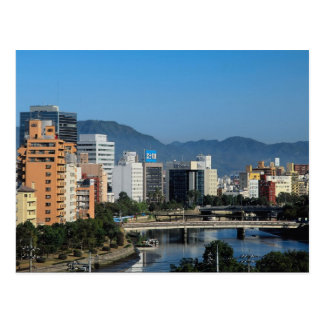 Skyline of Hiroshima, Japan Postcard