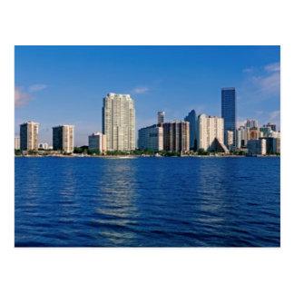 Skyline of Miami, Florida Postcard