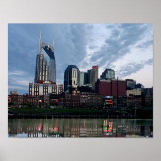 Skyline of Nashville Poster