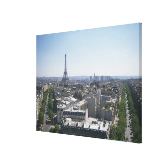 Skyline of Paris, France Canvas Print
