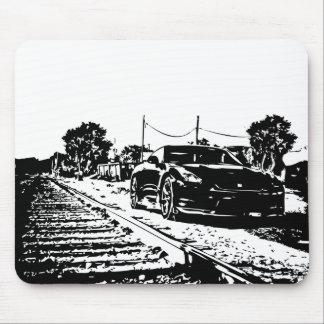 Skyline Train Tracks shot Mouse Pad