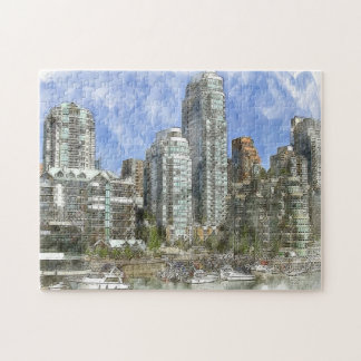 Skyline Vancouver. Jigsaw Puzzle