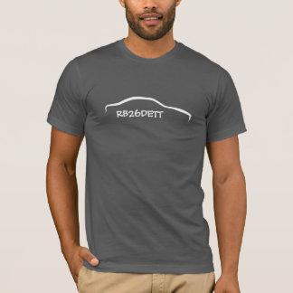 Skyline white Silhouette -  RB26DETT Engine Code T-Shirt